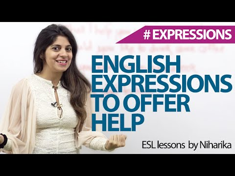English Expressions To Offer Help – Free Spoken English Lessons. video