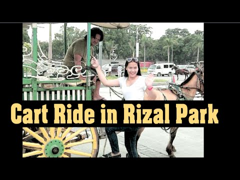 Horse Cart Ride in Rizal Park Manila Philippines