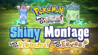 152 SHINY MONTAGE! Pokemon Let's GO Pikachu and Eevee Epic Shiny Reactions and Funny Moments!