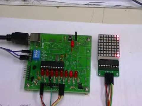 MAX7219 display controller with 8X8 LED Matrix