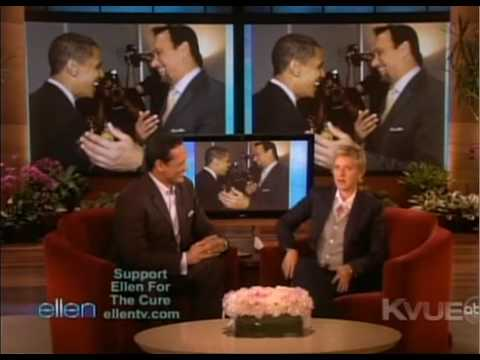 Jimmy Smits on Ellen (10/13/09) promoting Latin Music USA Music Videos