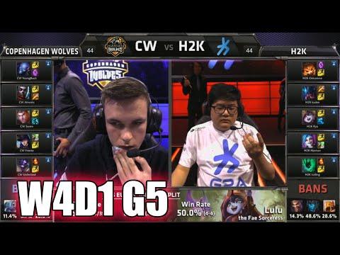 Copenhagen Wolves vs H2K Gaming   S5 EU LCS Summer 2015 Week 4 Day 1   CW vs H2K W4D1 G5 Round 1