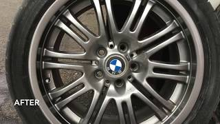 DIY Rim Restoration on a BMW E46 M3 Wheel - spray paint
