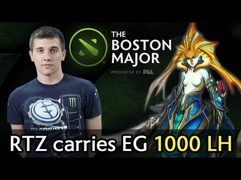 Arteezy carries EG in Boston Major — 1000 last hits, 1000 GPM