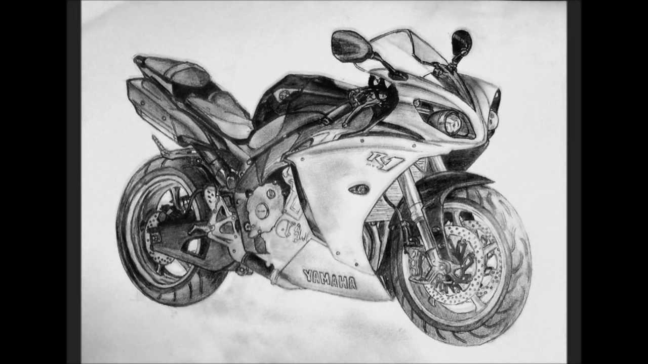 Yamaha R1 Drawing