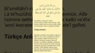 Erken kalkmak için okunacak dua ''Türkçe açıklamalı''