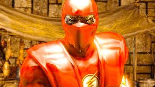 Mortal Kombat XL - Nth Metal The Flash Reptile Costume Skin Mod Performs Intros On Alll Stages Mods