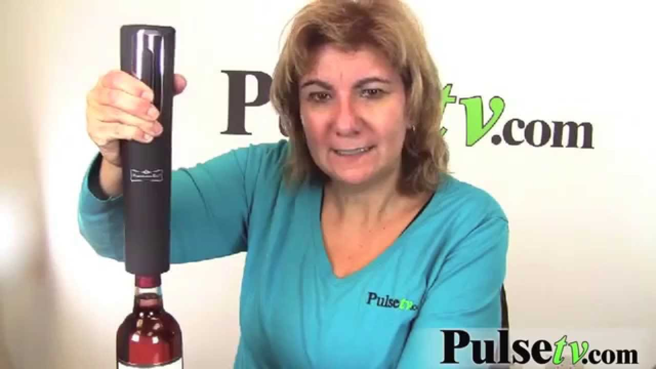 automatic wine bottle opener by american era youtube. Black Bedroom Furniture Sets. Home Design Ideas