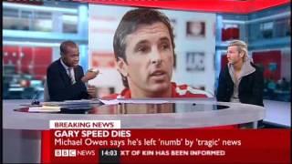 Gary Speed dies age 42 Robbie Savage emotional Tribute