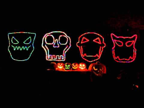 "Halloween Light Show 2011 ""Spooky Scary Skeletons"""