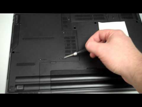 Lenovo SL510 (Thinkpad Laptop)  Removing/Replacing the Hard Drive