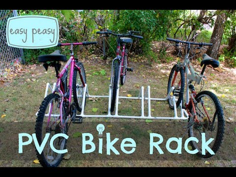 how to build a bike rack out of pvc