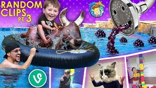 WATER BULL RIDING 🎵 FUNnel VINES/Vlogs (FV Family Random Clips #4)