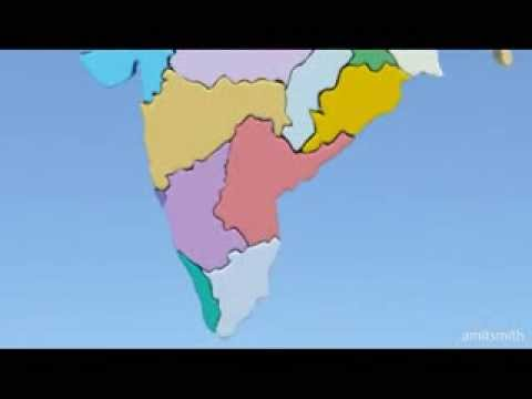 28 States of India with Map -  Hindi Song  Memorize in a Minute