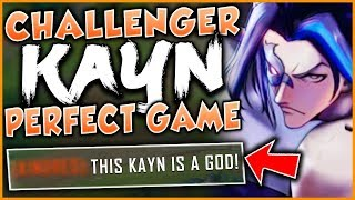 CHALLENGER KAYN HAS A PERFECT GAME! (1V9 CARRY ON SMURF) - League of Legends