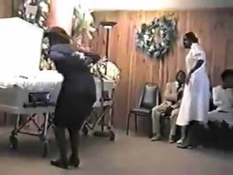 Haitian Lady Dancing at Funeral