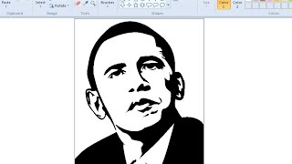 Draw Barack Obama | MS Paint | Pop Art