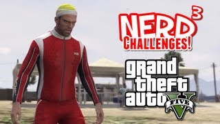 Nerd³ Challenges! The Race to 100%! - GTA V