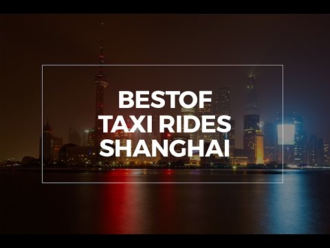 A ride in Shanghai, city road movie of Shanghai in China