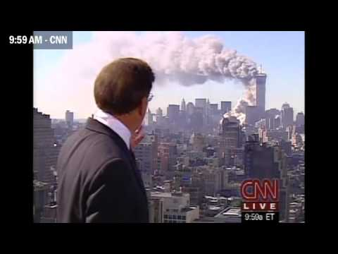 September 11, 2001. Live TV Coverage Montage
