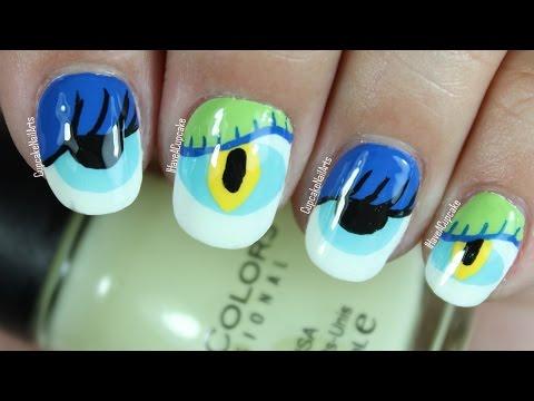 Halloween Nail Art *Glowing Monster Eyes*