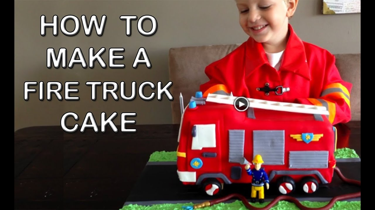 Cake Decorating How To Make Fire : Fire Truck Cake HOW TO COOK THAT Fire Engine Birthday Cake ...