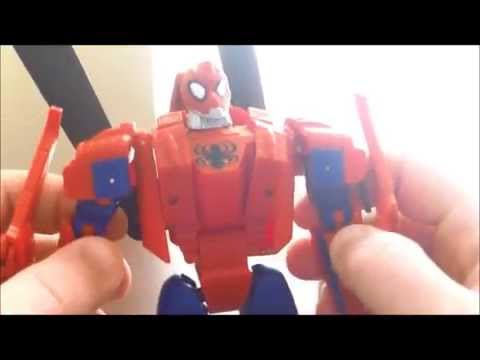 Transformers Marvel Crossovers: Spider-Man & Iron Man 2-pack Review (Marvel Universe 2008)