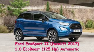 0-100 km/h Ford EcoSport II (facelift 2017) 1.0 EcoBoost (125 Hp) Automatic