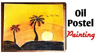 New Line Craft - Oil Postel Painting | Landscape Painting | Painting ideas | #Diy