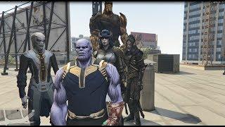 GTA 5 - 4 đứa con của Thanos đối đấu biệt đội trái đất (tập 1)   GHTG