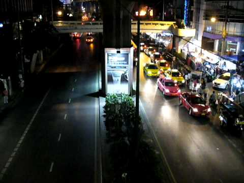 Bangkok Sukhumvit Rd. at night 2011