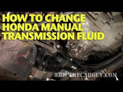 how to change honda manual transmission fluid