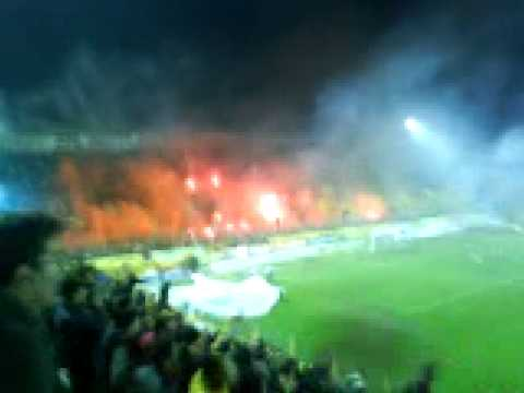 ARIS-paok THE STADIUM ON FIRE... PYRO SHOW