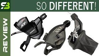Sram Grip Shift vs Triggers vs Shimano Rapidfire Plus Shifters. In Depth Comparison.