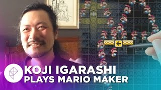 Castlevania's Koji Igarashi Makes a Super Mario Maker Level - Devs Make Mario
