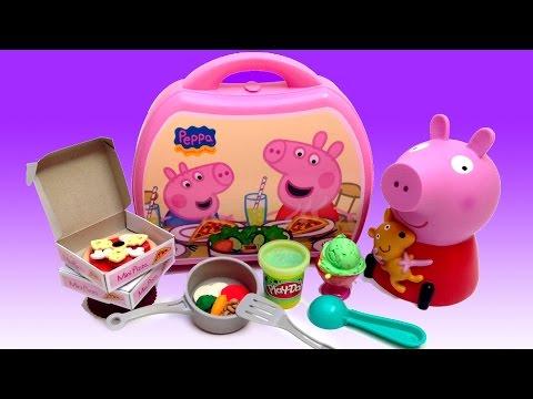 Peppa Pig Mini Pizzeria Play Doh Ice Cream Peppa Pig Chef Peppa Toys