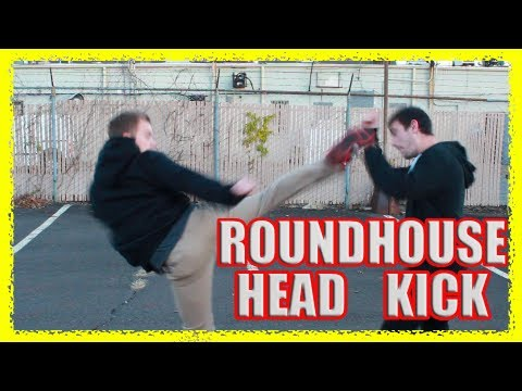 How to Fight: Roundhouse High Head Kick KO in a Street Fight