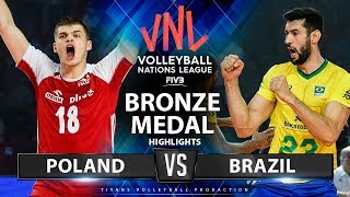 Poland vs Brazil | Bronze Medal Match | Highlights | Men's VNL 2019