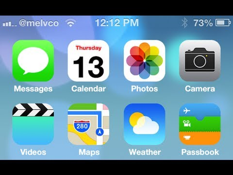 iOS 7 Winterboard Theme for iOS 6 iPhone & iPod Touch