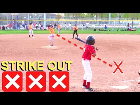 BOY Pitches 3 STRIKE OUTS at Baseball Game! ⚾️⚾️⚾️