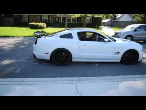 Magnafnow Competition Quad Mustang GT with APR GTC Drag Wing