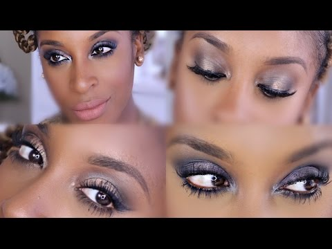 Urban Decay Naked Smoky Palette 4 LOOKS! + Review   Jackie Aina