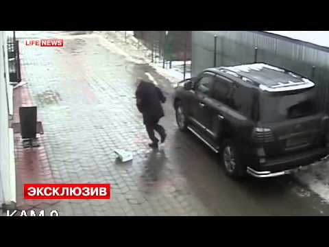 Failed Murder! Real CCTV video how killer try to kill a businessman in Russia!