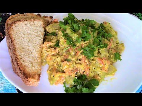 Кабачки в сметане - приготовьте это блюдо срочно, пока кабачки не переросли!