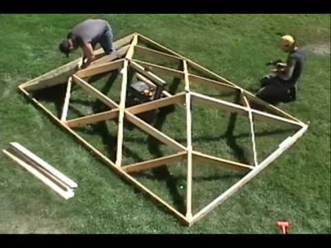 World s Fastest Wooden Hip Roof.wmv