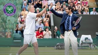 Umpire steals the show during Invitation Doubles | Wimbledon 2019