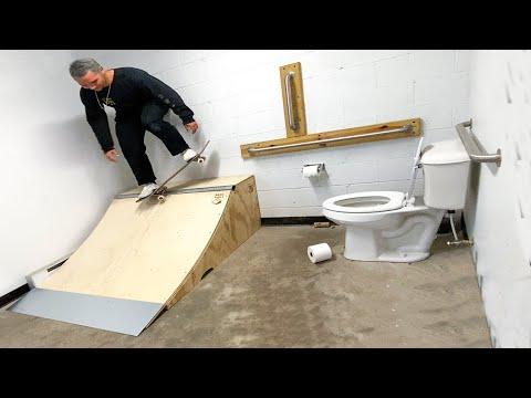 I Built a Skateboard Ramp In My Bathroom