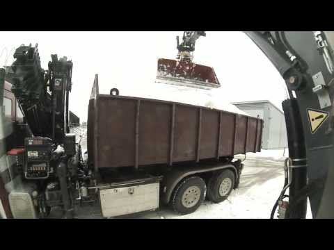 Terex TW 110 ja vibrapumppu lumitöissä
