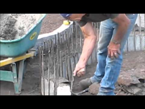 How to build cement walls for raised bed gardens