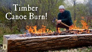 From Tree to Canoe Part 1 - Chopping and Burning